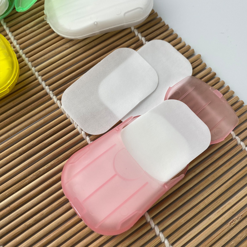 Hand-washing soap tablets disposable travel boxed fragrance type paper soap tablets wholesale NHMP208103