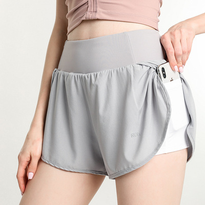 Lightweight quick drying sports yoga gyms shorts women yoga elastic running fitness pants women yoga YOGA SHORTS