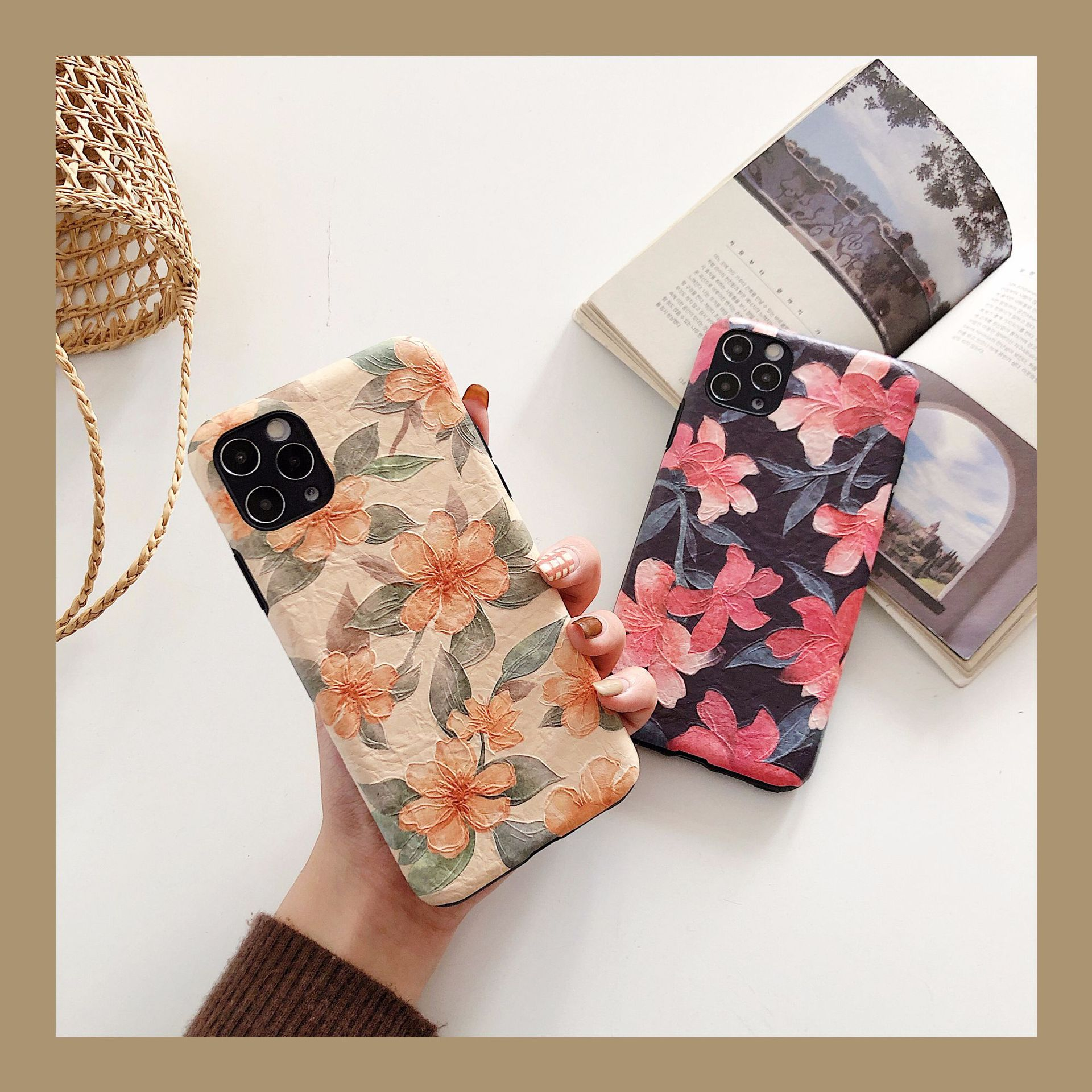Korean   lily flower Apple 11Promax mobile phone case for Huawei mate30pro NHFI272895