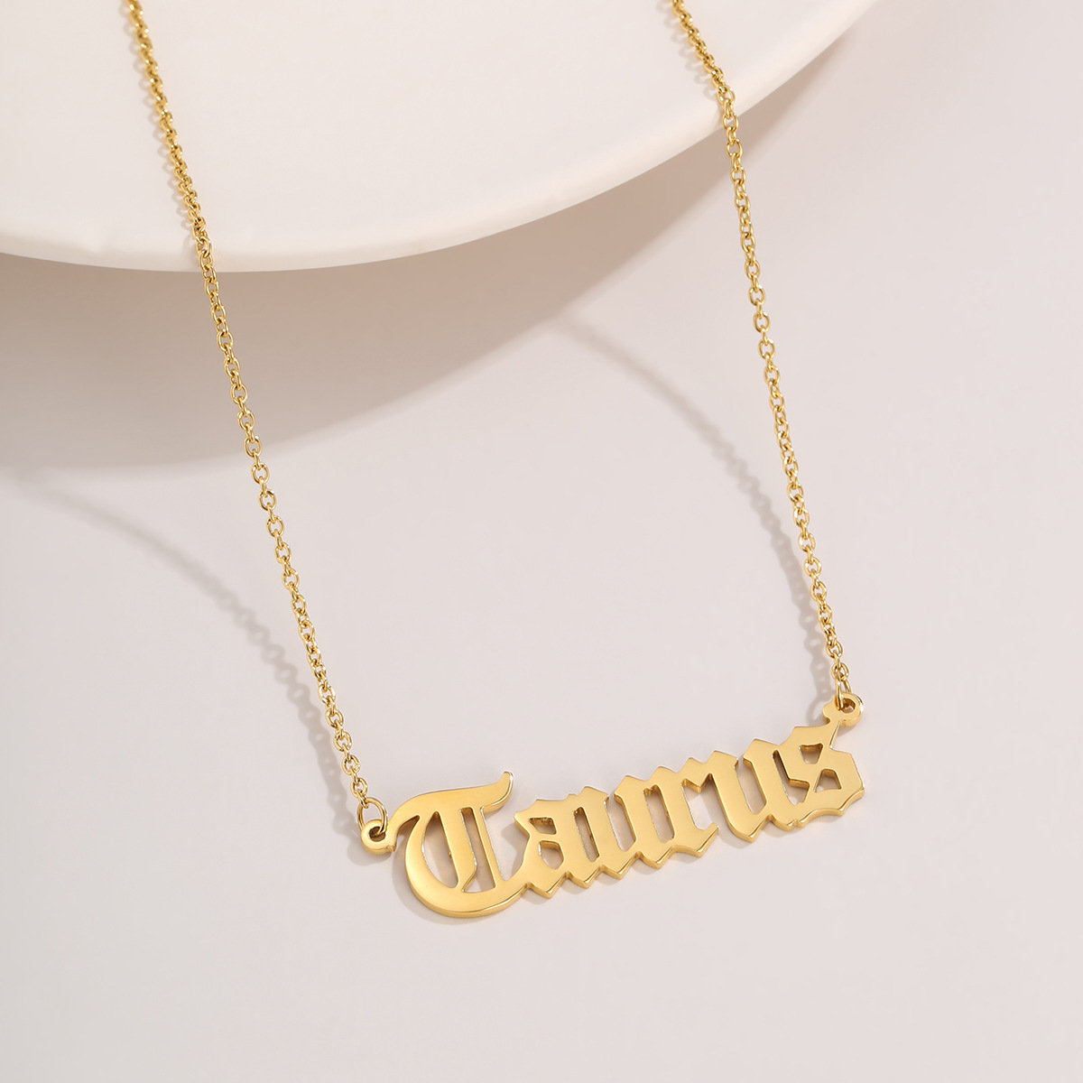 fashion simple twelve constellation trendy stainless steel necklace for women NHXR261817