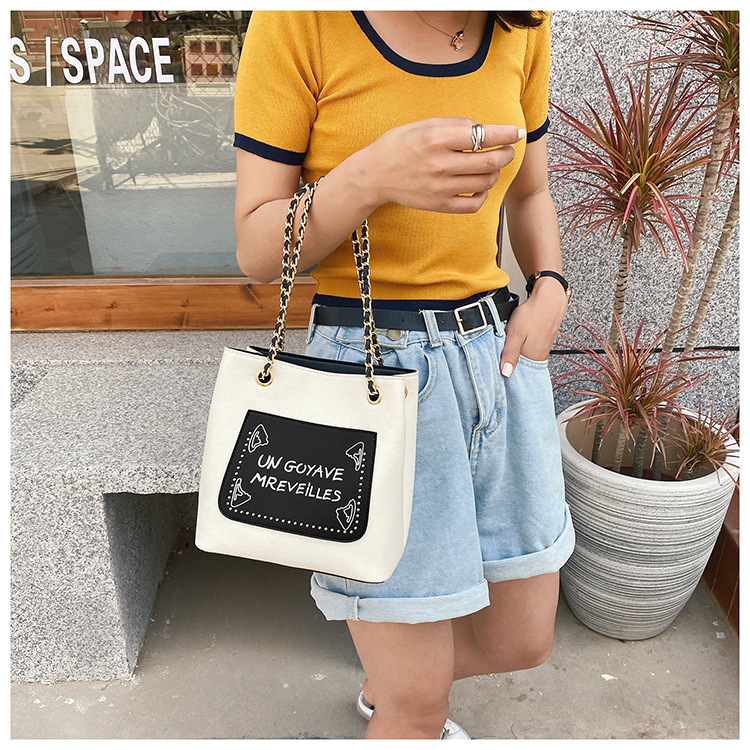 small bag summer new trendy fashion chain crossbody bucket bag shoulder bag wholesale nihaojewelry NHTC225161