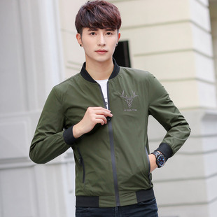 2019 jacket men's autumn new casual jacket men's spring and autumn thin casual clothes 1801