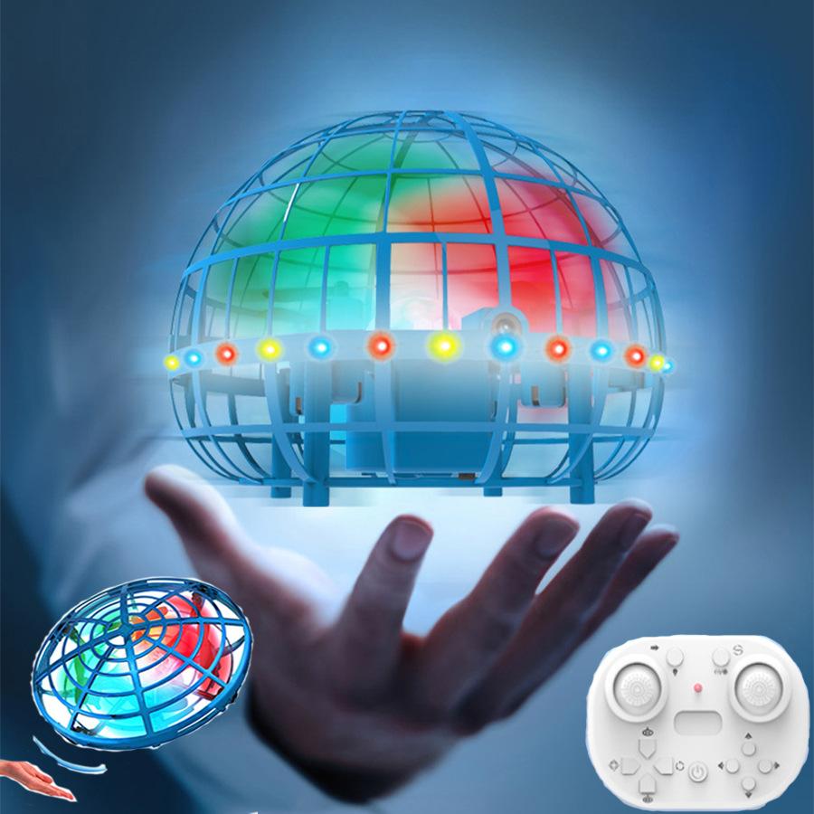 跨境玩具UFO遥控感应飞行器四轴灯光手势感应遥控飞机飞碟儿童