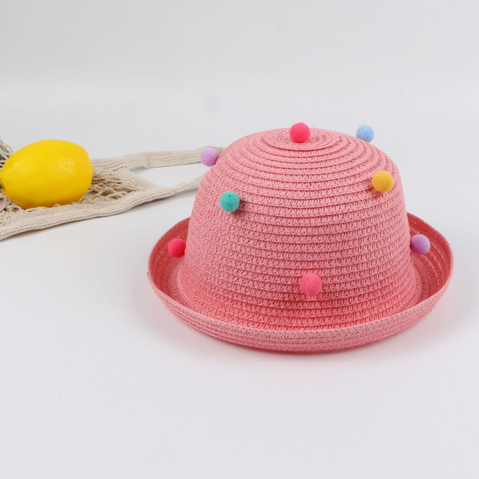 Children's meatball hat men and women baby straw hat summer sun hat NHTQ206940