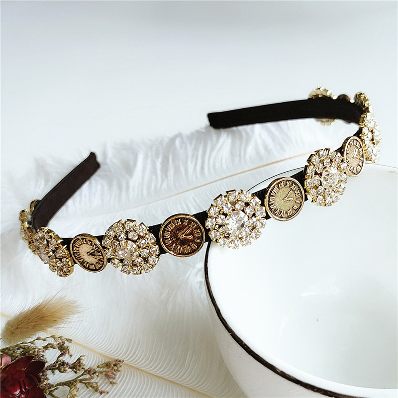 fashion new headband women retro exaggerated bronze headband hair accessories wholesale nihaojewelry NHVA236120