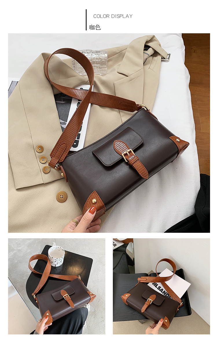 new trendy  wild high-end baguette bag retro single shoulder underarm bag NHJZ270367