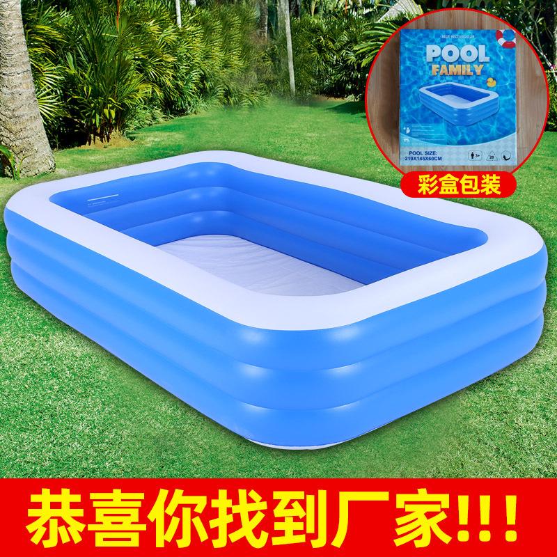 PVC儿童充气游泳池 家用户外大型家庭水池加厚塑料宝宝婴儿泳池