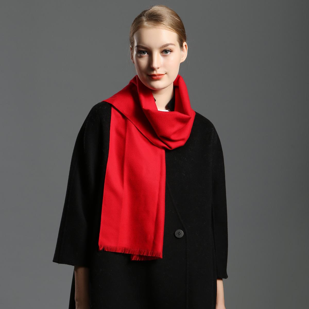 年会围巾 女士秋冬季韩版长款围巾女 披肩 商务男士加厚保暖围脖