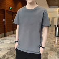 Весной и летом 2020 года новая мужская футболка с короткими рукавами свободные шею с длинными рукавами мужской большой размер сострадательной модной одежды