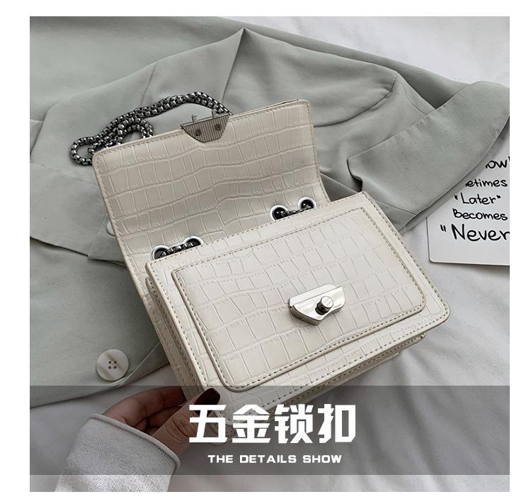 Fashion womens handbag messenger bag summer fashion retro crocodile pattern chain bag shoulder bag NHJZ237944