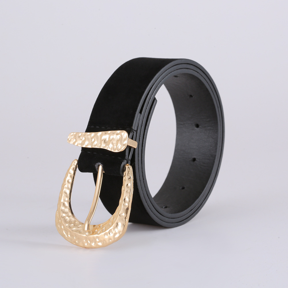 Korean fashion suede belt new exquisite creative diamond belt women NHJJ203640