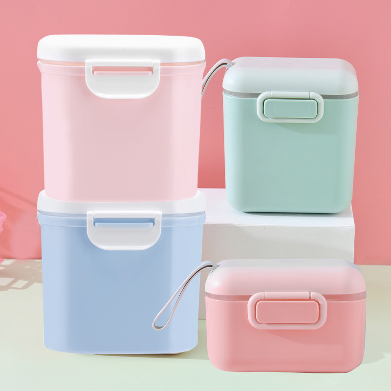 母婴用品宝宝奶粉盒外出大容量奶粉储存盒婴儿便捷式奶粉格母婴品