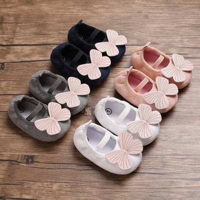 Baby prewalker toddlers shoes girl princess shoes soft soled breathable indoor walking shoes month old baby shoes