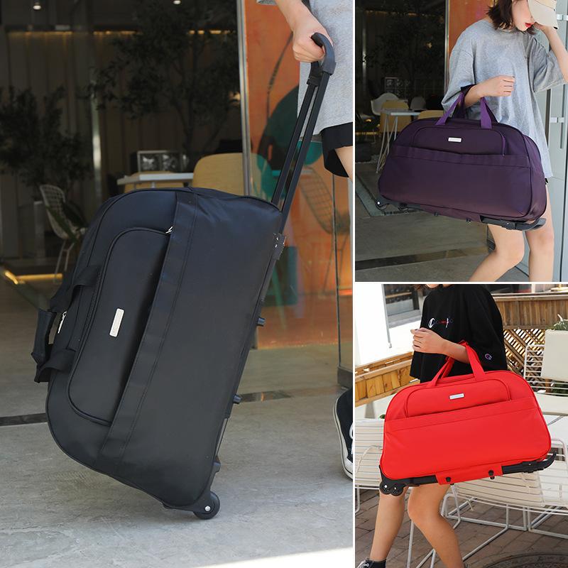 旅行包女拉杆包手提大容量防水轻便行李箱男行李袋短途折叠软包潮
