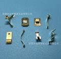 工厂生产电子五金配件 黄铜片冲压小弹片 镀金镀银导电铜片加工
