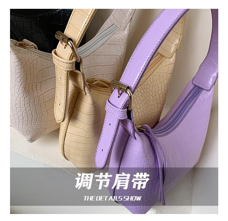 New texture small bag women bag  popular new trendy fashion  shoulder bag summer wild armpit bag nihaojewelry wholesale NHTC223188