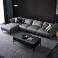 沙发极简新款客厅小户型简约现代皮艺轻奢组合转角头层黄牛皮
