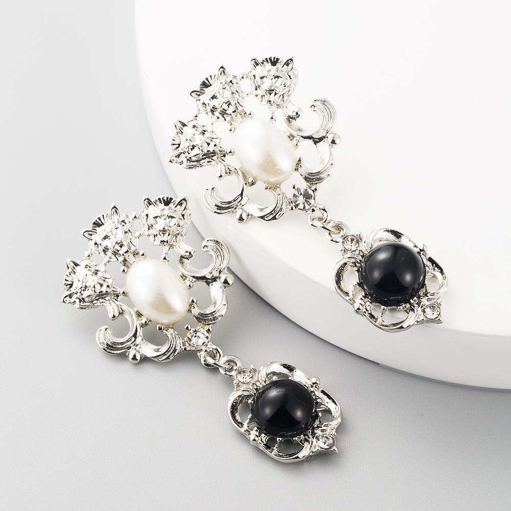Vintage earrings ladies pearl earrings fashion earrings wholesale NHLN197350