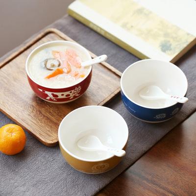 货源特价批发外贸陶瓷餐具碗家用防烫米饭碗创意日用瓷碗圆形日式汤碗批发