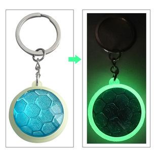 New Crystal Keychain Acrylic Luminous Three-dimensional Pendant Custom Couple Key Ring Chain Creative Gift Men and Women