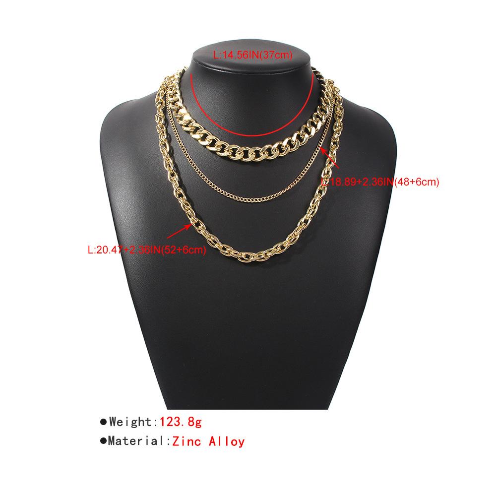 retro multi-layer fashion necklace  NHMD286152