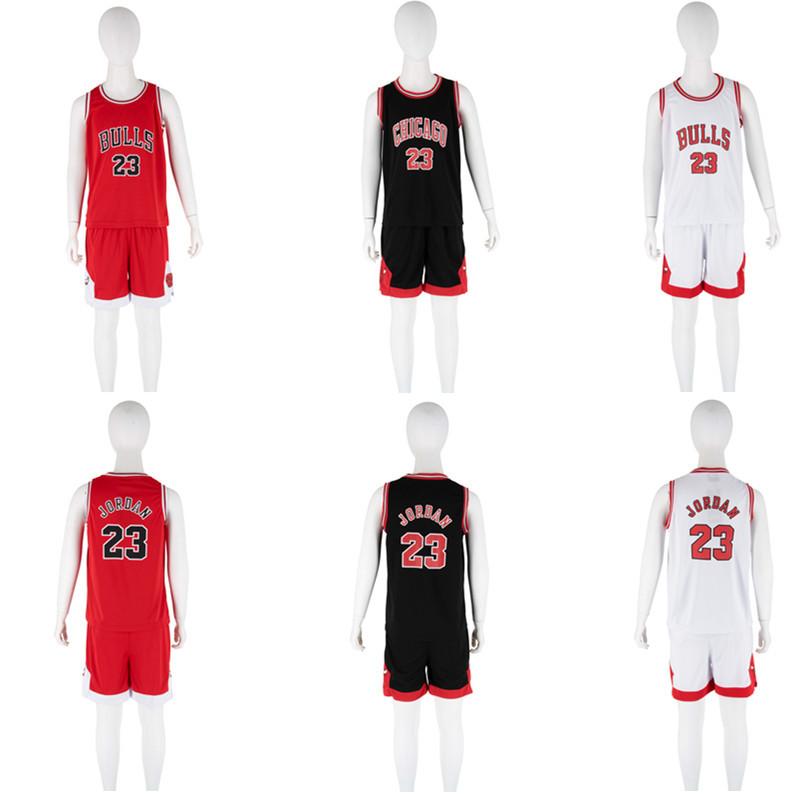 夏季新款童装nba篮球服套装飞人23号厂家直销可定制幼儿园表演服