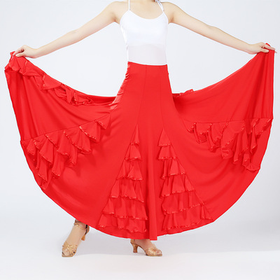 Ballroom dance skirts for women Long Skirt Waltz modern dance skirt social dance square dance national standard dance skirt