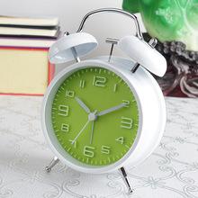 静音夜光钟立体数字非机械打铃小闹钟时尚性懒人儿童电子钟表4寸