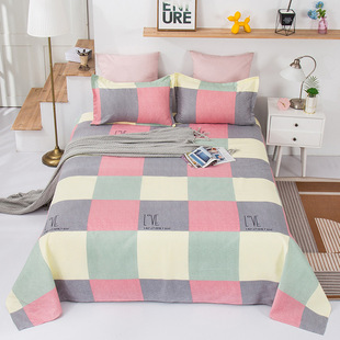 Thickened plant cashmere sheets, non-ball dormitory bedding, twill cashmere sheets, single piece