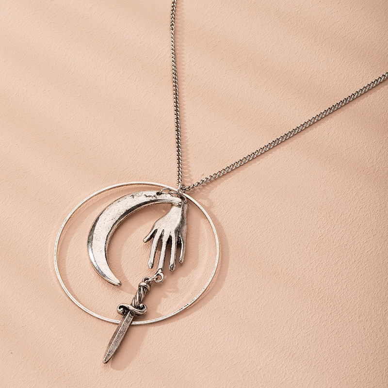 new retro fashion trend alloy jewelry necklace for women wholesale NHAI241827