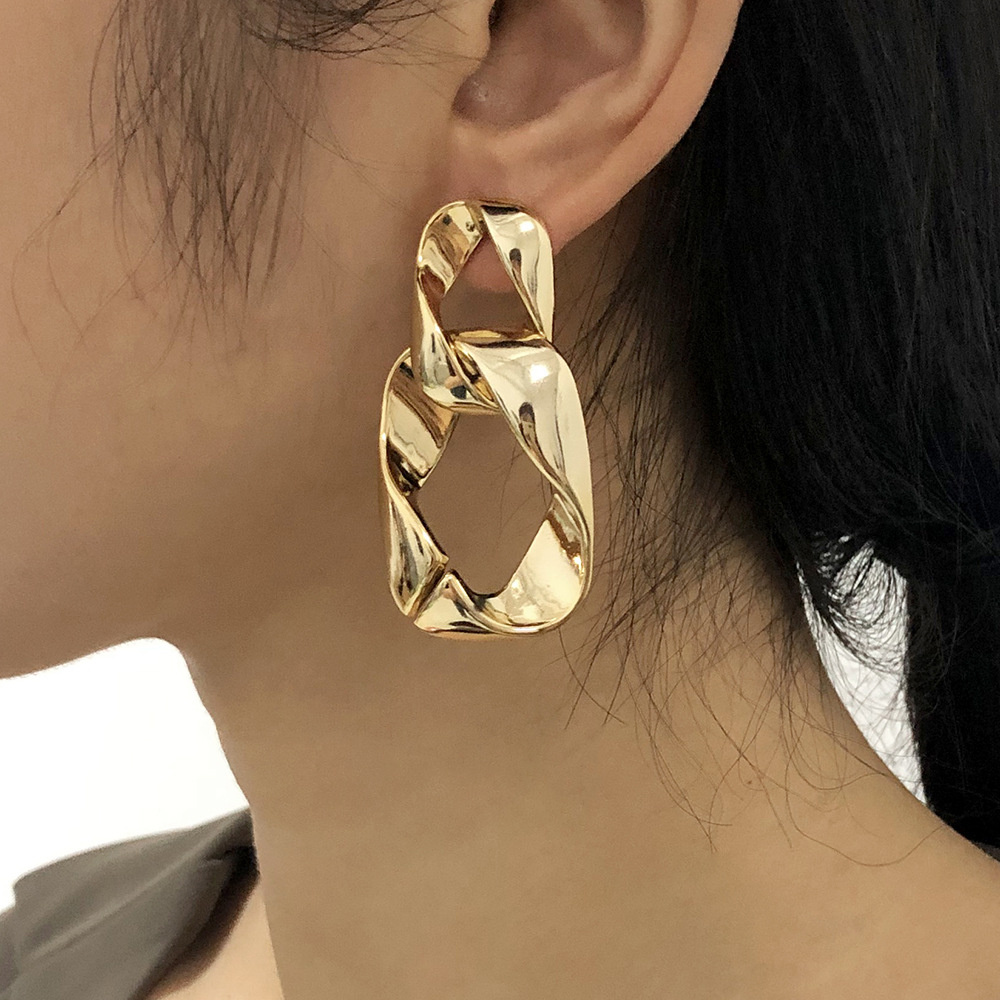 large chain punk style fashion alloy earrings NHMD287732