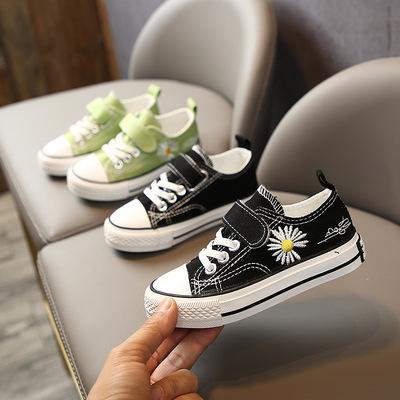 货源2020夏季儿童新款小雏菊帆布鞋 韩版时尚休闲鞋帆布运动潮鞋批发