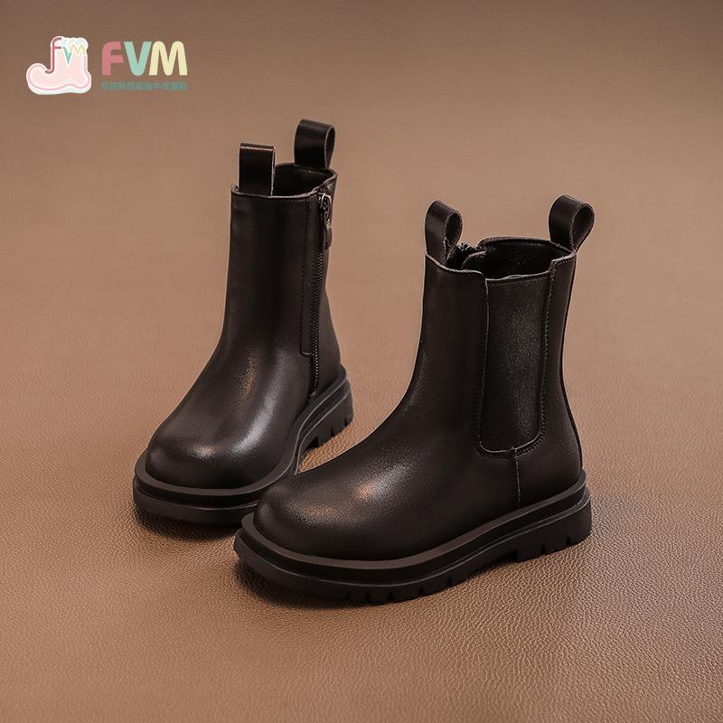 女童鞋儿童马丁短靴子2020年新款英伦风春秋款秋冬款小童单靴皮靴