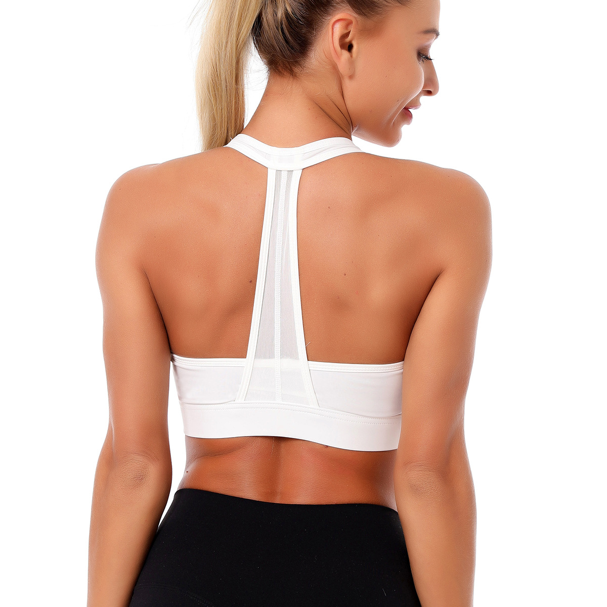 Light support cut out back sports bra NSNS47332