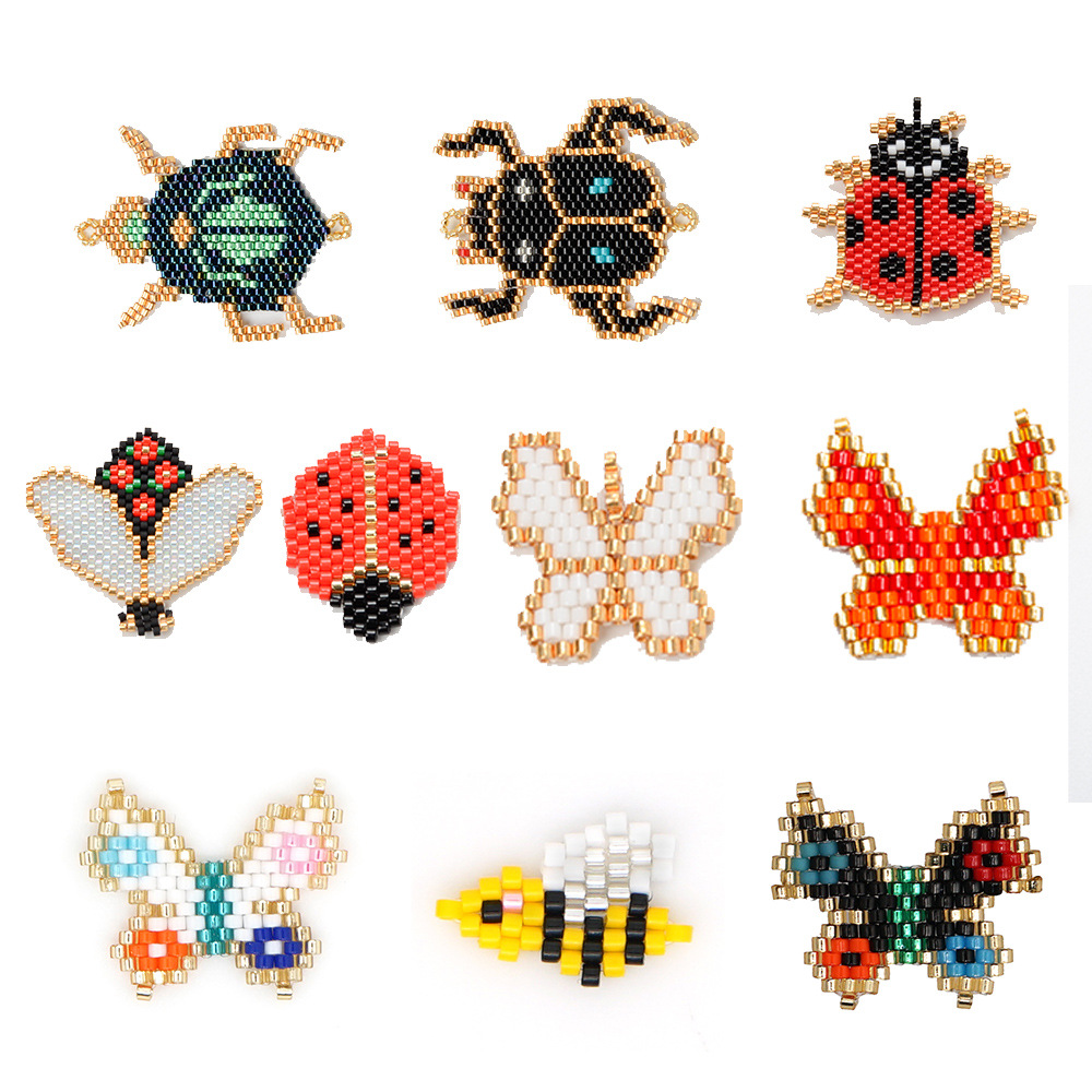 New fashion insect series butterfly Miyuki hand-woven beaded jewelry accessories wholesale NHGW210650