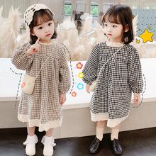 女童连衣裙2020年春秋季新款韩版儿童洋气呢子娃娃裙宝宝时髦童裙