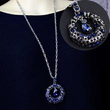 水晶掛件衣服裝飾項鏈毛衣鏈長款女百搭秋冬長項鏈簡約時尚掛飾品