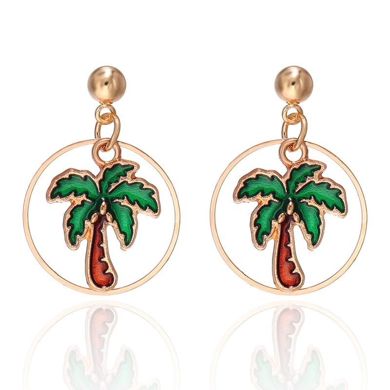 New simple coconut oil drop earrings Korean sweet earrings women NHPF203025