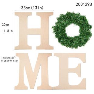 Christmas unpolished wooden letters family wooden letters HOME home decoration pastoral home wall decoration
