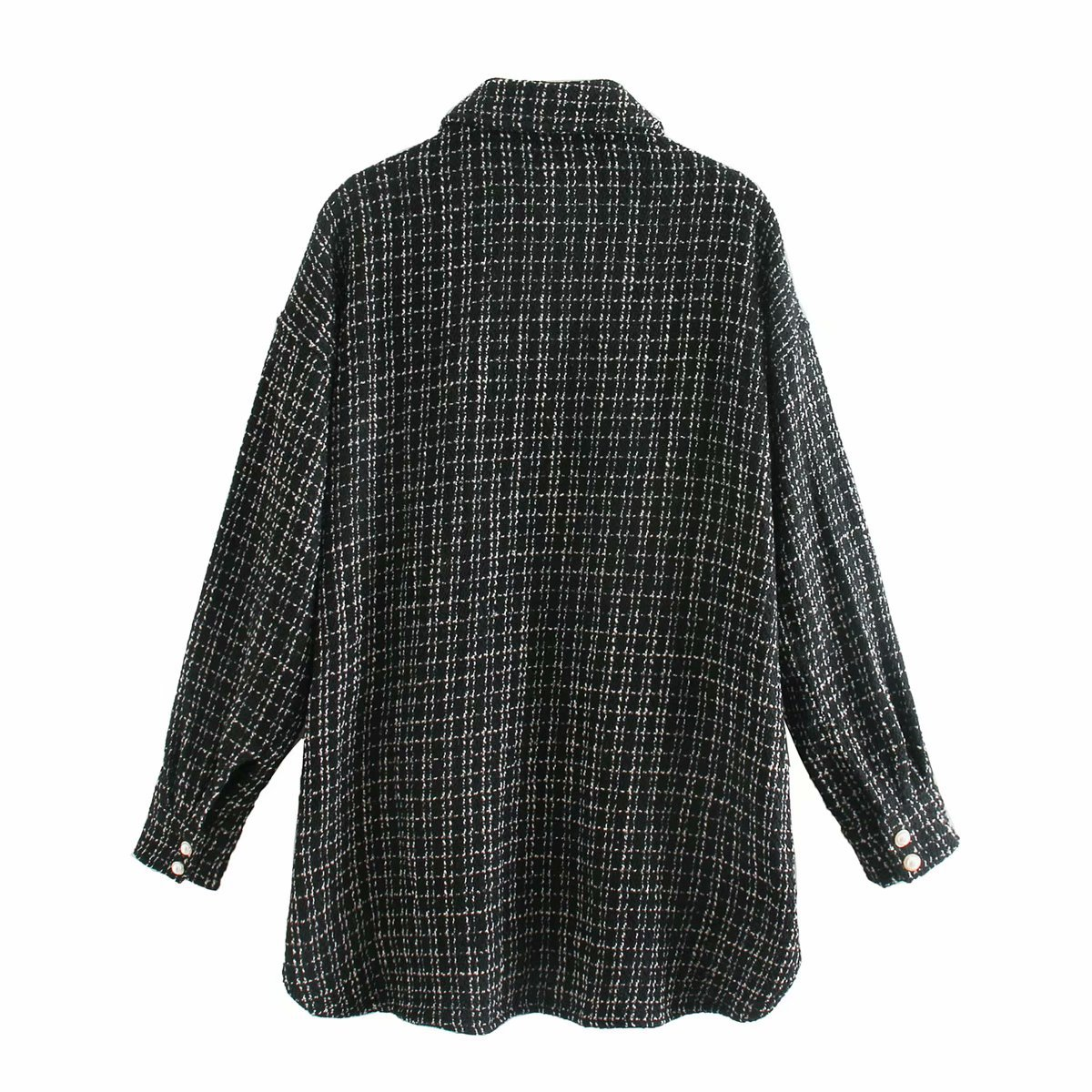 wholesale autumn two-color small fragrance style women's shirt jacket NSAM4212