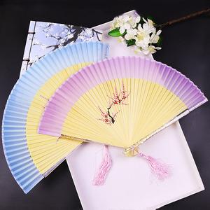 Chinese Fan Chinese Hanfu hand Fan Handmade Hanfu ancient folding fan bamboo painted national fan student dance fan