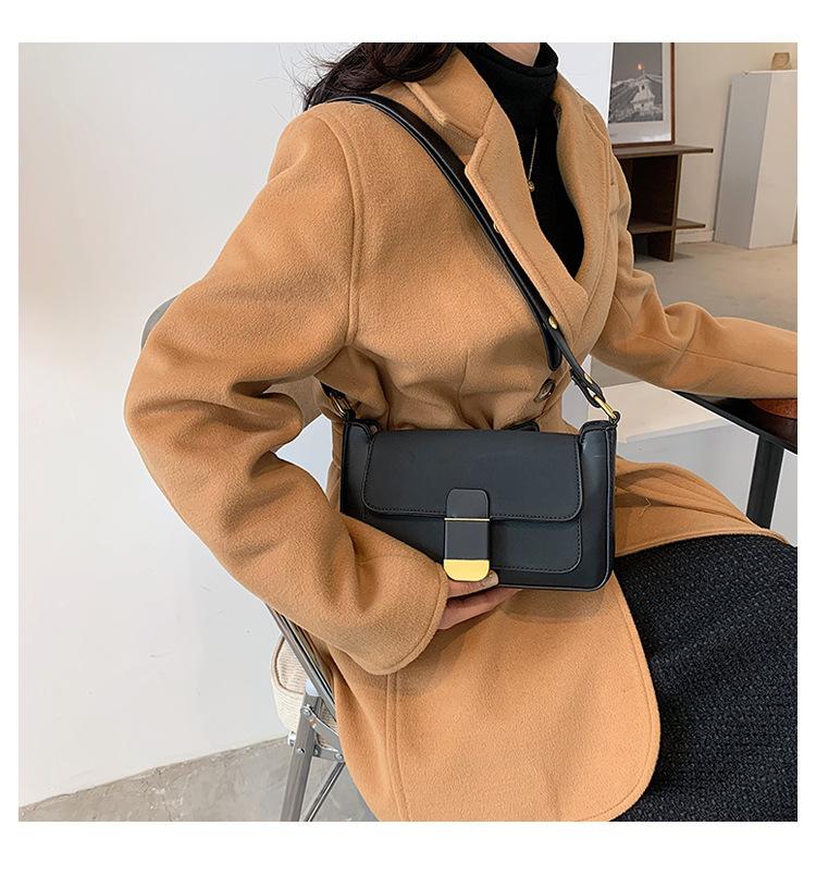 frosted brown one-shoulder underarm bag  NHJZ285794