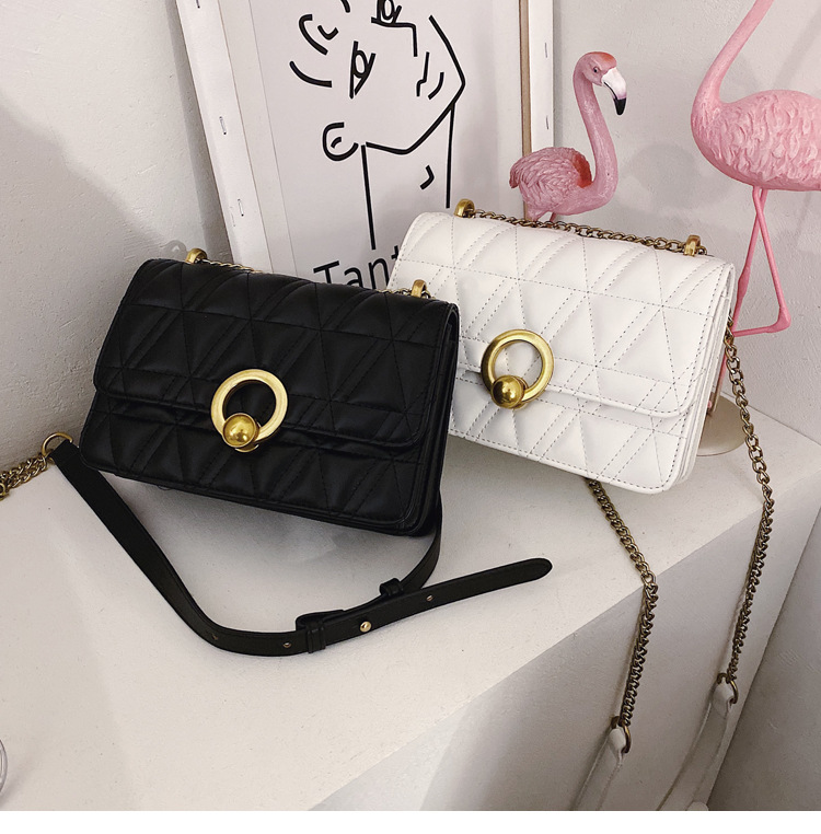 Small square bag ladies winter new Korean version of the wild fashion messenger bag NHTC195613