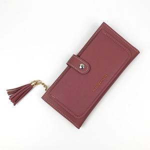 កាបូបលុយនារី Purse Ladies Long Large Capacity Wallet Ultra-thin Wallet PZ489773