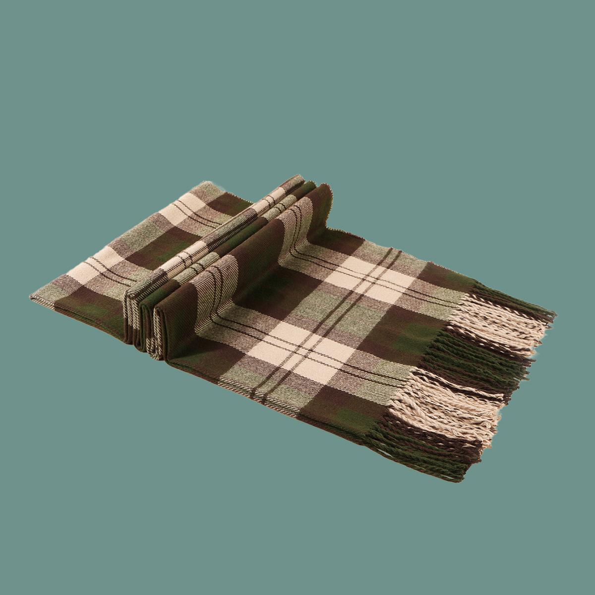 Korean fashion retro plaid scarf NHTQ288105
