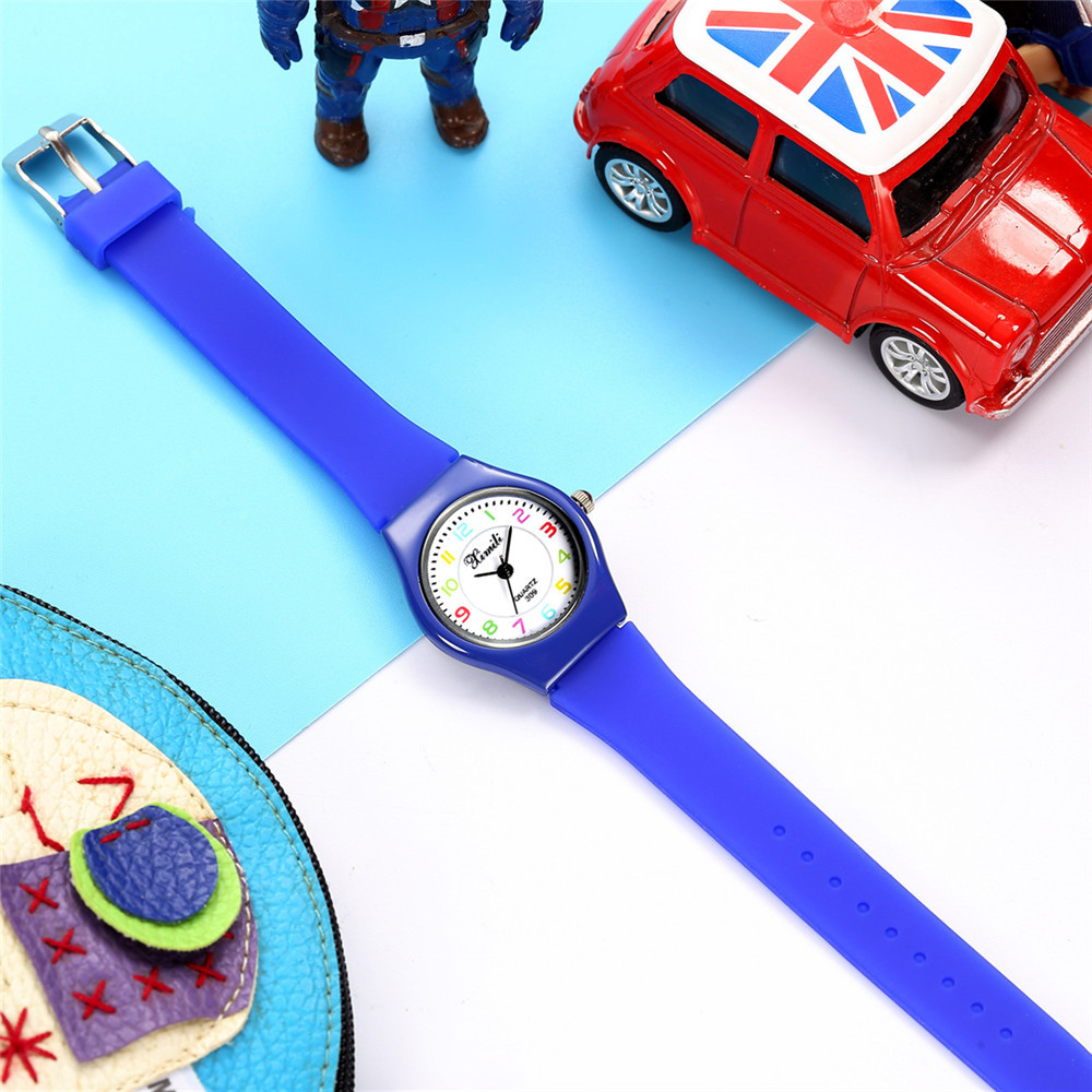 New Candy-colored Silicone Children's Watch Cute Digital Face Quartz Watch NHSS200483