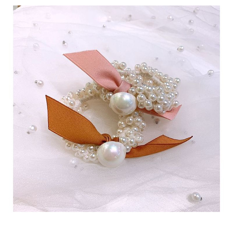 Korean French Romantic Pearl Wild Sweet Beaded Cheap Scrunchies Wholesale NHHD207359
