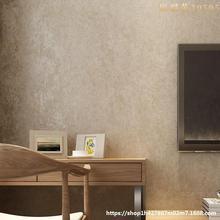背景墻臥室壁紙美式鄉村北歐客廳綠色家用墻紙無紡布斑駁復古素色