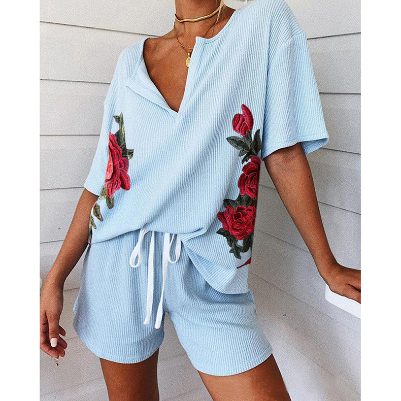 loose casual printing home service suit NSKX8478