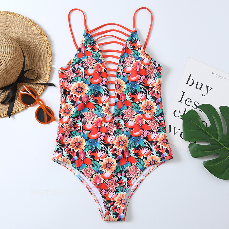 one-piece printing sexy swimsuit   NSHL25558